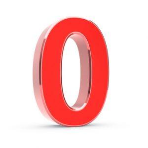 Big 3D isolated number zero